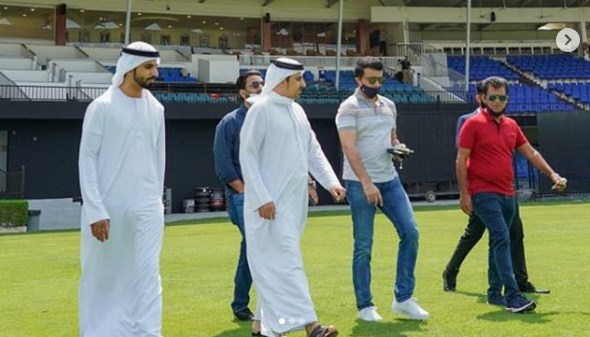 'IPL 2020: BCCI chief Sourav Ganguly visits Sharjah Cricket Stadium, lauds new-look venue'